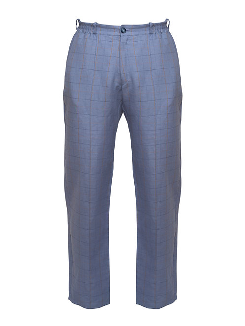 Linen Checkered Trousers