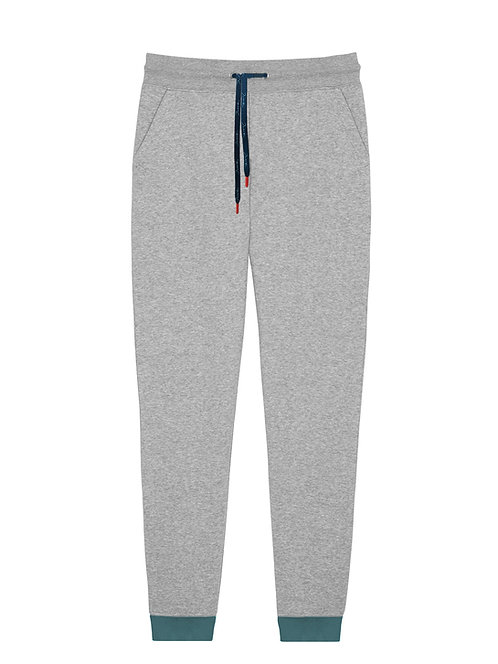 Women Organic Grey & Blue Trousers
