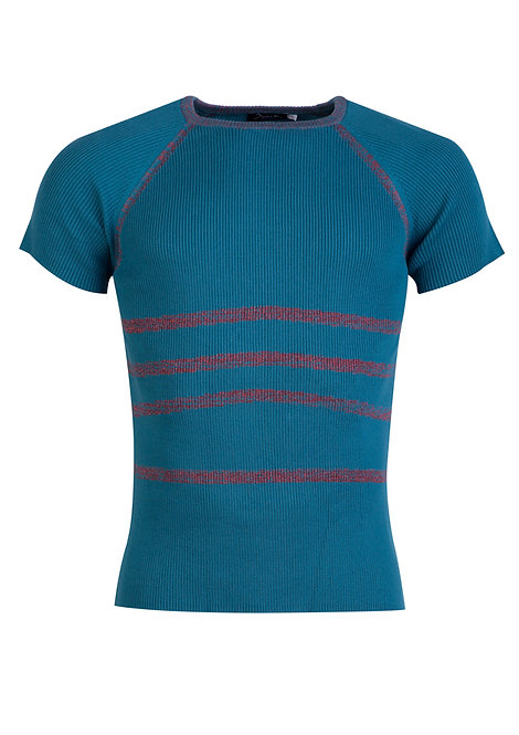Blue&Red Stripes Knit