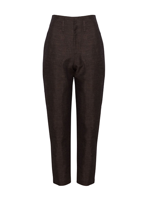 Linen Alpine Fitted Trousers