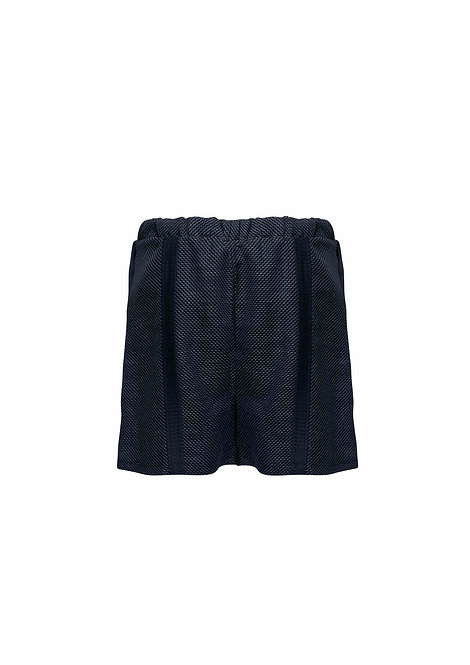Step Cotton Shorts with One Stripe