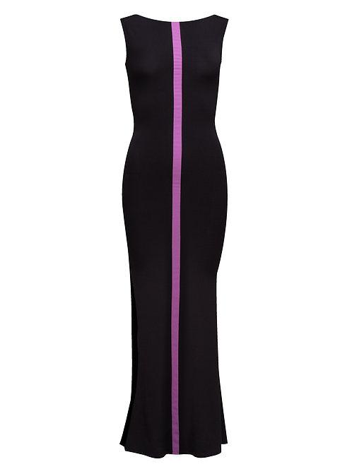 Jersey Dress w/ Pink Line