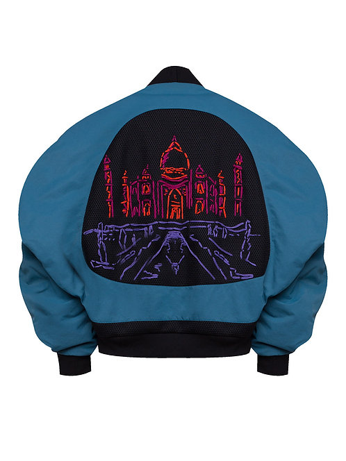 """Around India"" Embroidered Bomber"