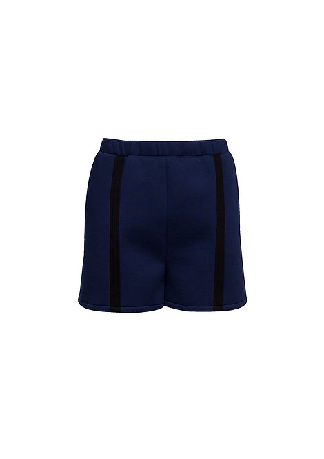 Neoprene Shorts with One Stripe