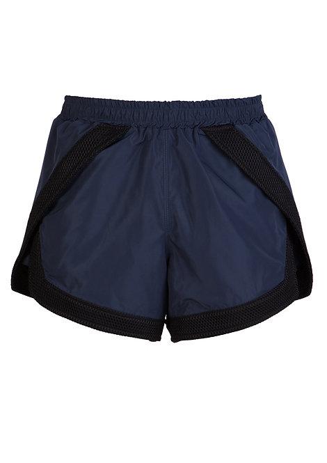 Blue Nylon Shorts