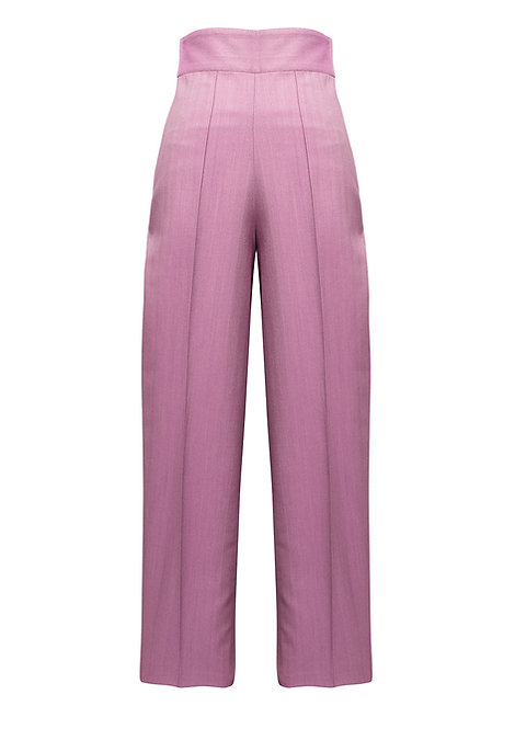 Lilac Herringbone Trousers