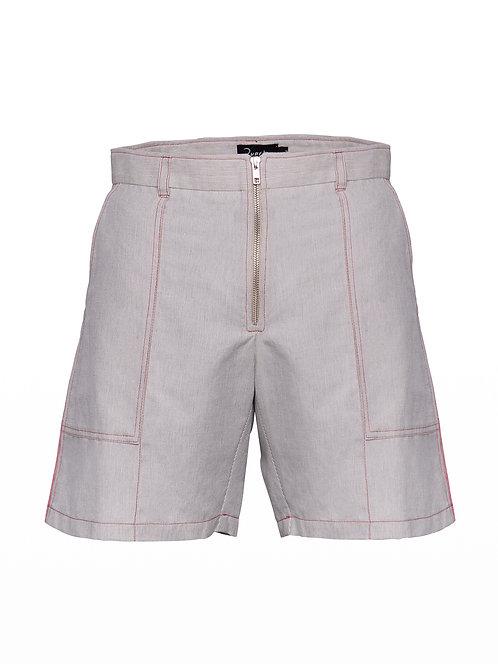 Striped Linen Desert Shorts