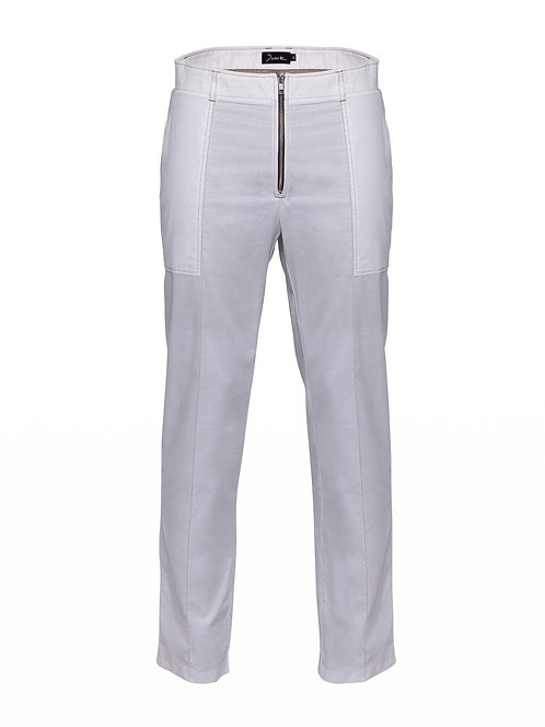 White Popeline Desert Trousers