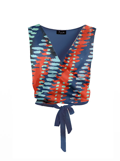 Wrap Mavericks Silk Top