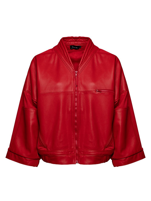 Leather Racing Bomber