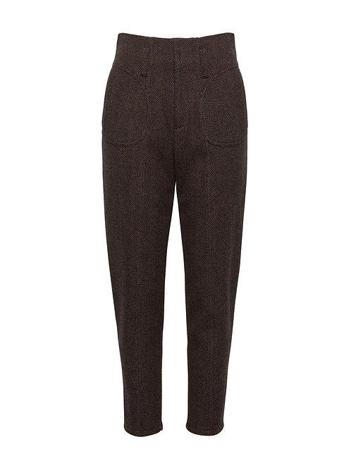 Herringbone Alpine Fitted Trousers