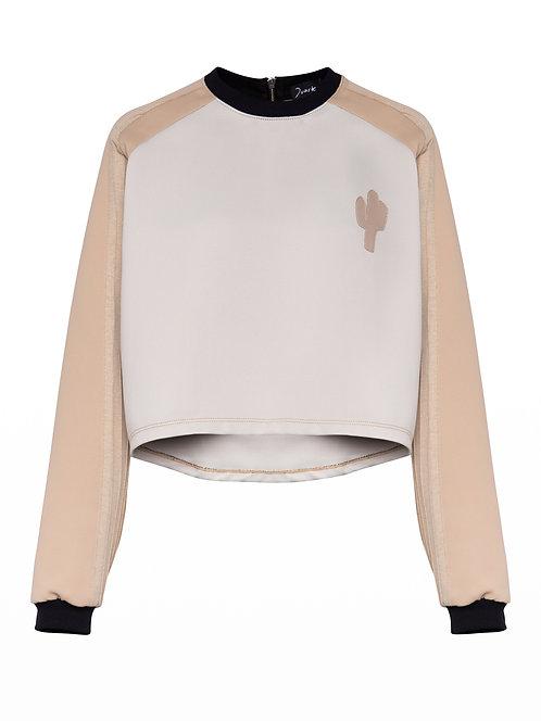 Cream Cactus Sweater