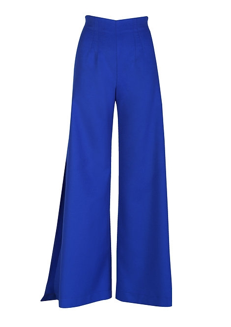 Large Blue Cashemere Trousers