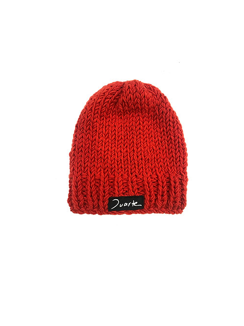 Unisex Knitted Orange Beanie