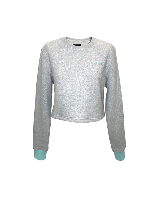 Organic Duarte Grey Crop Sweater