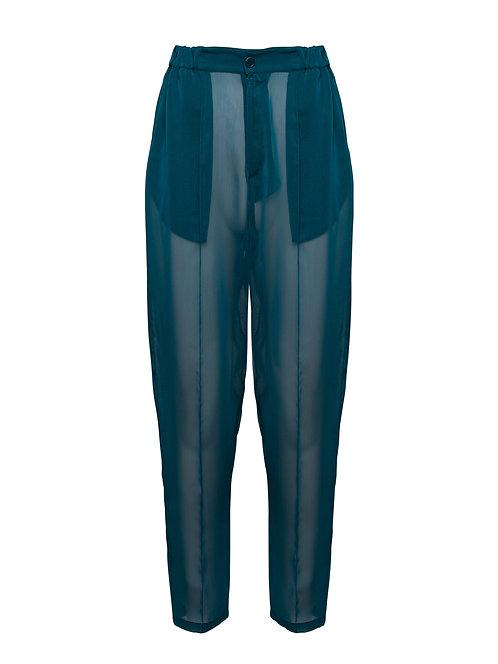 Blue Organza Pilot Trousers