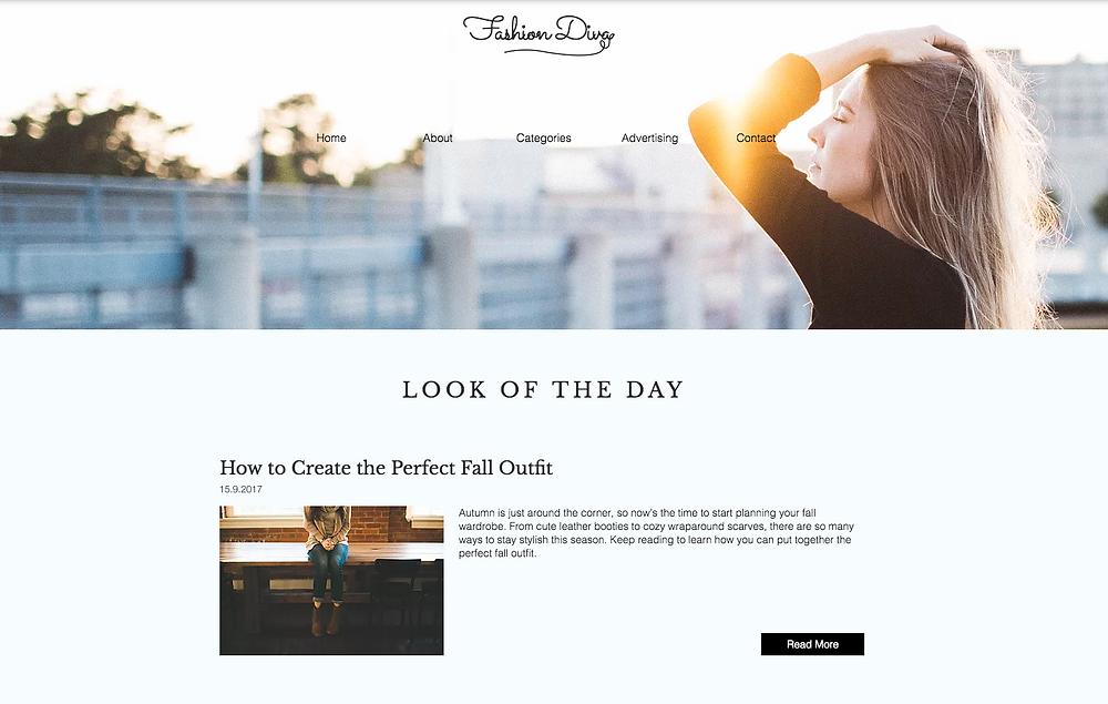 Blog Fashion Divas by Wix