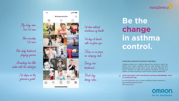 Game change against asthma control | AstraZeneca + OMRON concept global campaign