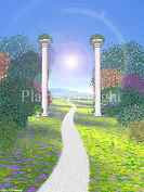 Path of Light - inspirational image, spiritual art, mystical art, visionary art, inspirational gift