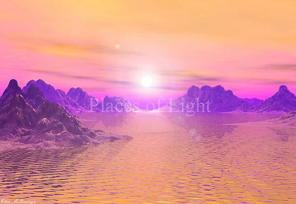 Sunset Vista - Mystical serene image by PlacesofLight.com sold as art prints, wall art & more