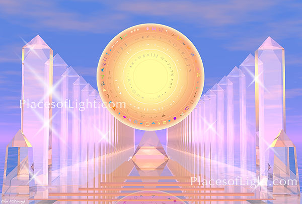 Crystal Temple - Bestselling image of a spiritual, healing temple - by Places of Light