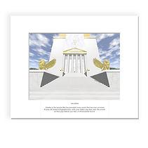 Akasha - new age art, spiritual art print of the Akashic records temple