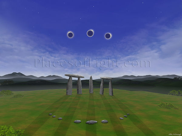 Three Eclipses - mystical image by Places of Light Visionary Art