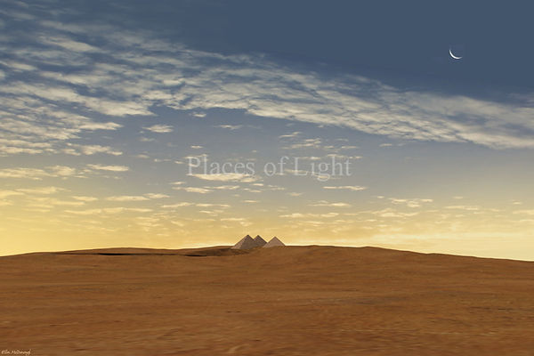 Early Dawn - Sunrise on an ancient landscape by Places of Light Visionary Art