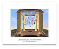 Palace of Treasured Memories mystical, inspirational image. Beautiful art print!
