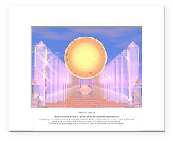 Hall of Records print - choose matted or unmatted. Bestselling scifi futuristic image!