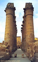 Colonnade of Amenophis III at Luxor Temple