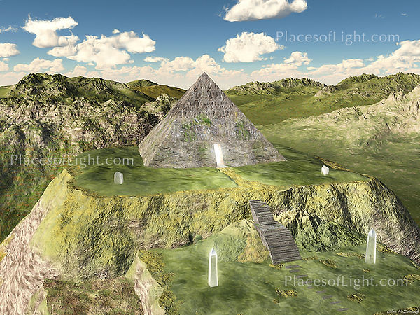 Atlantean Pyramid - Mystical, visionary art by Places of Light
