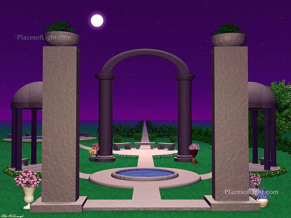 Moonlit Sanctuary - Mystical image by Places of Light Visionary Art