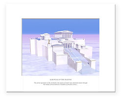 Acropolis of the Heavens - spiritual, mystical image by Places of Light Visionary Artcifi futuristic image, mystical art by Places of Light Visionary Art