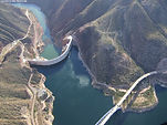 Aerial View over Roosevelt Dam in Arizona