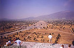 Pyramid of the Moon from atop the Pyramid of the Sun at Teotihuacan