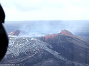 Hawaii volcanoes from the air