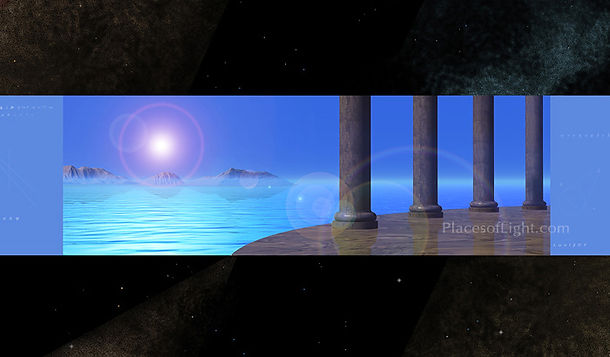 Hall of Records scifi futuristic image, mystical art by Places of Light Visionary Art