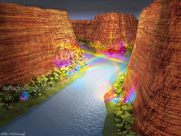 Canyon of Light - Mystical visionary art by Places of Light