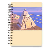 Hall of Records spiral notebook - lined journal book with 200 pages, glossy covers