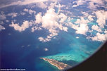 Aerial view over Cancun