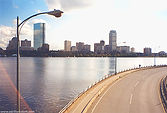 View from the Longfellow Bridge in Boston