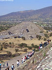 View of Pyramid of the Moon from the Pyramid of the Sun at Teotihuacan