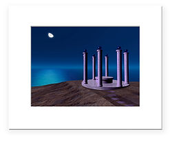 Atlantean Temple print - choose matted or unmatted. Beautiful art print!