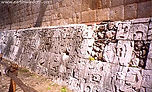 Ball Court Stone Reliefs at Chichen Itza, Mexico