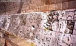 Ball Court Stone Reliefs at Chichen Itza, Mexico