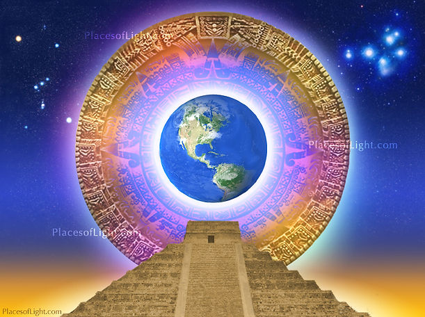 Dawn of the Golden Age - mystical, spiritual image by Places of Light Visionary Art