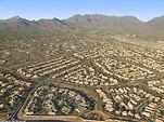 Aerial View over Phoenix, Arizona