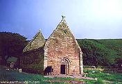 Kilmalkedar Church on Dingle Peninsula, Ireland