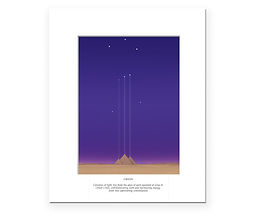 Orion art print - Orion constellation aligning with the Egyptian pyramids